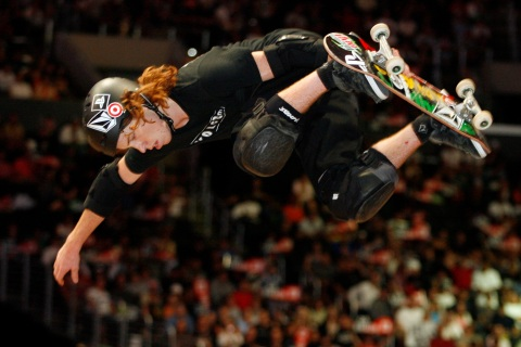 Los Angeles,CA.,August 4, 2006 - ESPN Summer X Games 12 -  Shaun White in Vert Best Trick finals