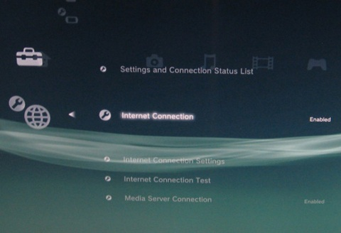 PlayStation 3, Internet Connection Settings