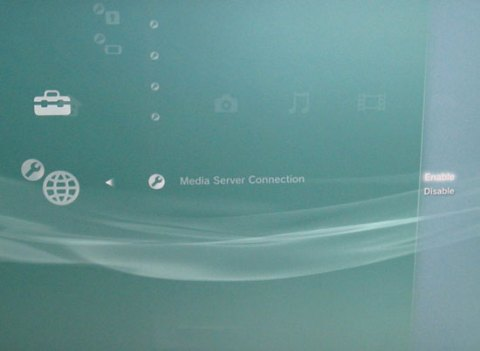 Playstation 3, Media Server Connection